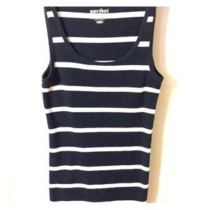 Tops - Navy and white stripes